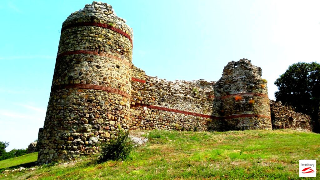 Perspective from the Mezek Fortress withthe most preserved tower