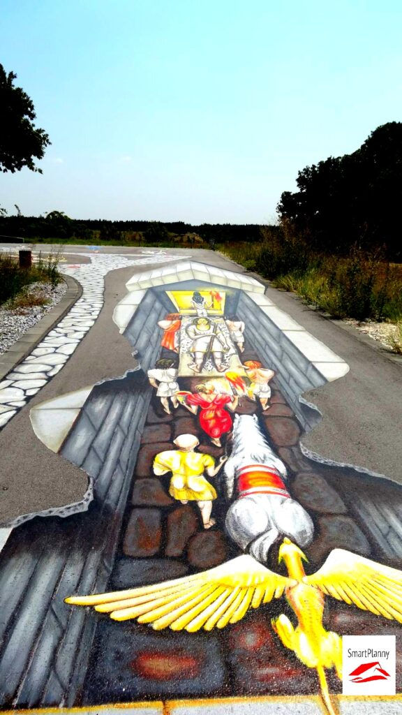 3D Graffiti in front of Mezek Tomb are showing a cult funeral